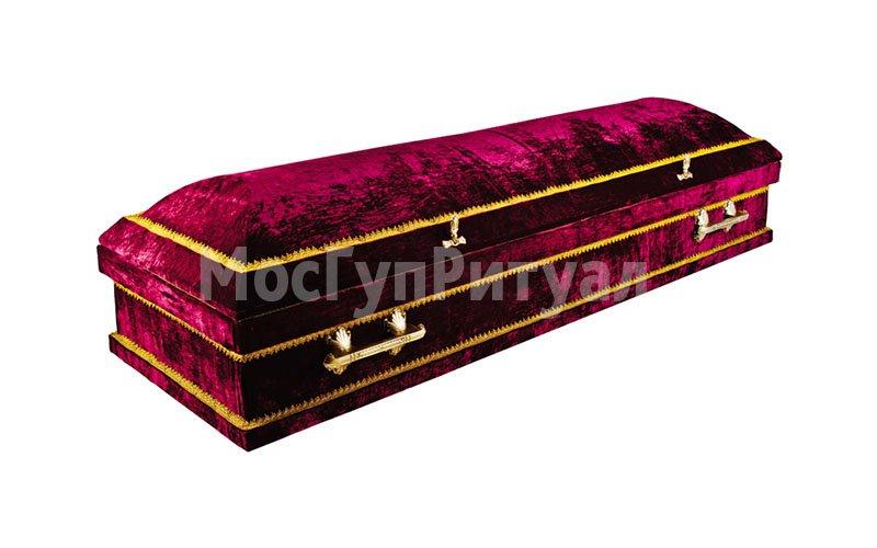 Гроб обитый тканью №12