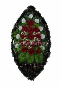 Венок ритуальный на похороны серия «простой» №11