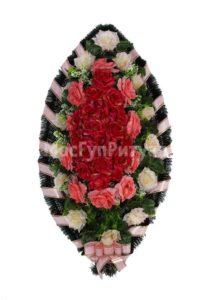 Венок ритуальный на похороны серия «заказной» №32